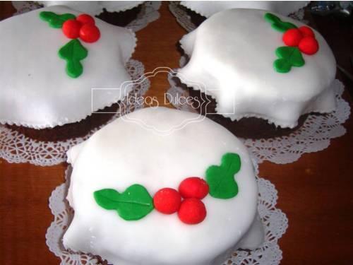 Tortas personales de navidad para el pedido de Catalina