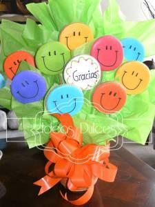 Arreglo de Galletas Carita Feliz-GRACIAS