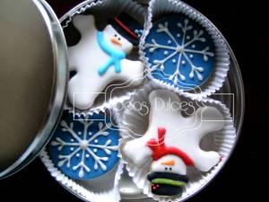 Caja de Galletas decoradas párrafo Navidad