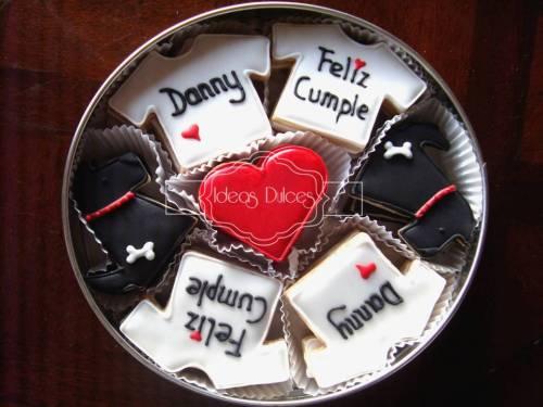 Caja de galletas para el cumpleaños de Danny