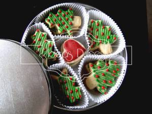 Caja de Galletas decoradas Con Motivos navideños.