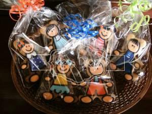 Detalle de galletas Individuales párrafo regalar en El Día del Niño