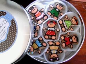 Caja galletas párrafo Día del Niño