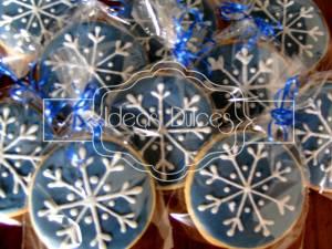 Los copos de nieve de Navidad