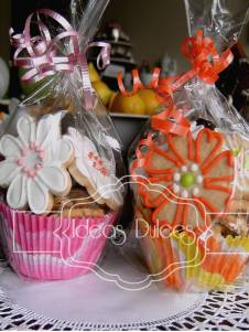 Capacillos decorativos Con mini-Galletas Surtidas.