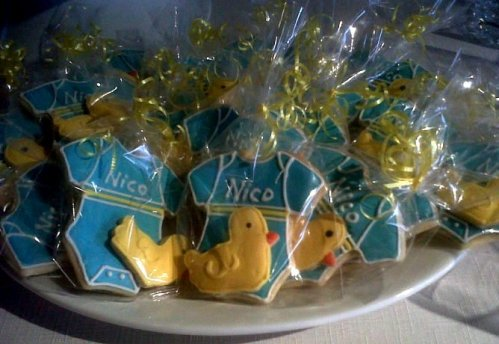 Galletas para Baby Shower de Body y Patico