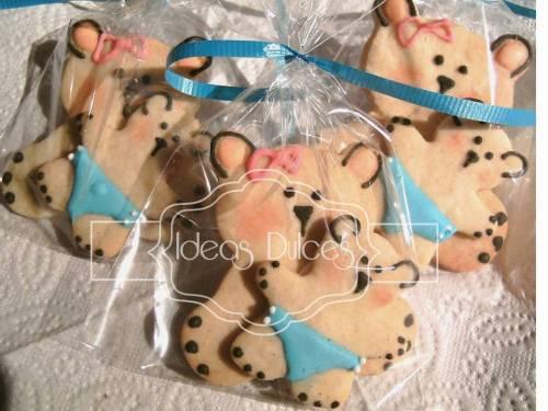 Galletas para Baby Shower de Mamá Osa y bebé osito