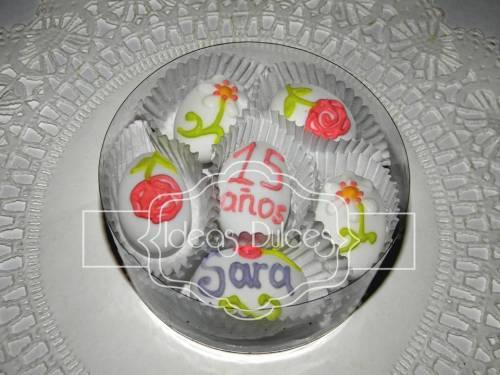 Almendras decoradas para celebración de 15 Años