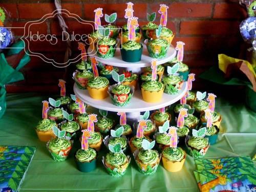 Torre de Cupcakes Animales de la Selva