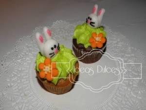 Cupcakes Con Conejitos de Pascua