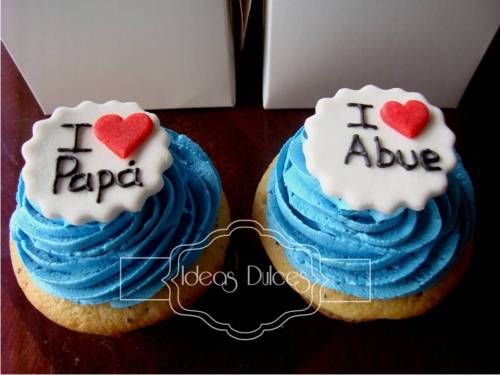 Cupcakes en Caja Individuales Para El Día del Padre