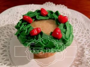 Mini-pasteles Corona de Navidad
