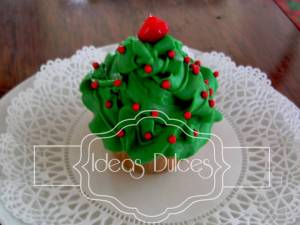 Cupcake Arbol de Navidad Verde