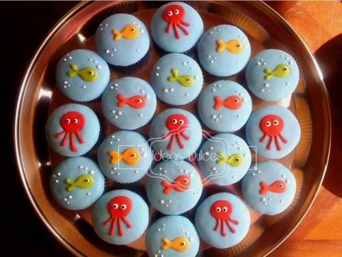 Cupcakes para el tercer cumpleaños de Jerónimo