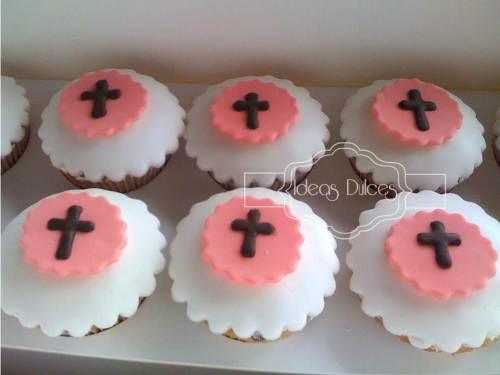 Cupcakes para Primera Comunión y Bautizos