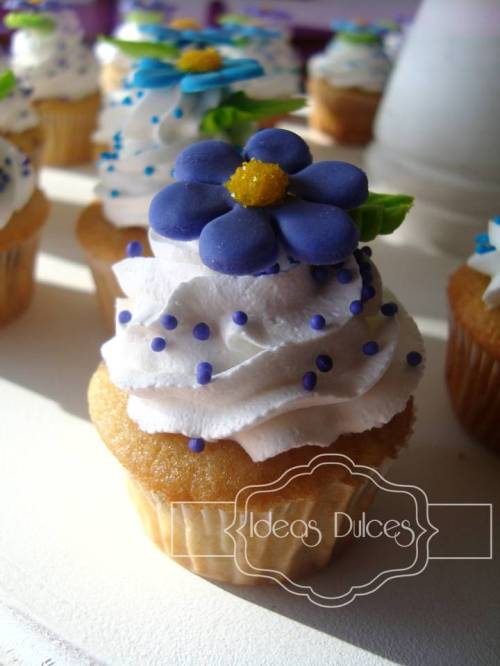 Mini-cupcake de vainilla-Chips de Chocolate
