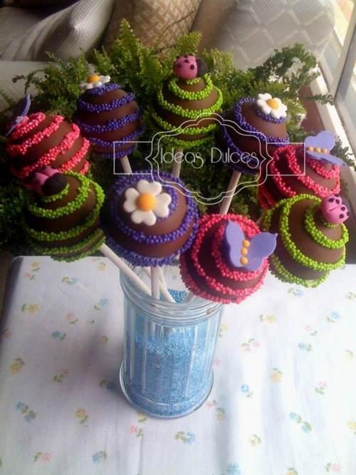 Cake Pops para cumpleañospara hija Paola
