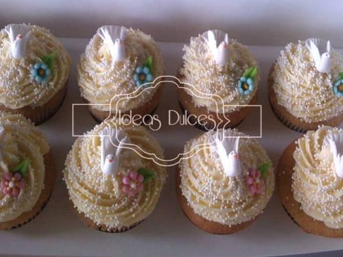 Cupcakes para la Primera Comunión de los hijos de Diana