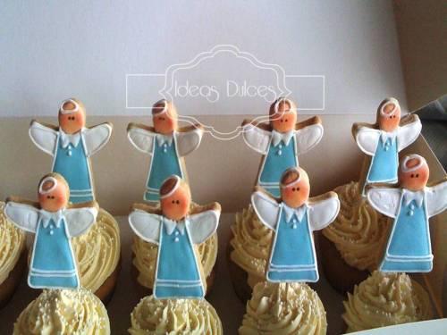 Cupcakes Decorados para la Primera Comunión del hijo de Jalile