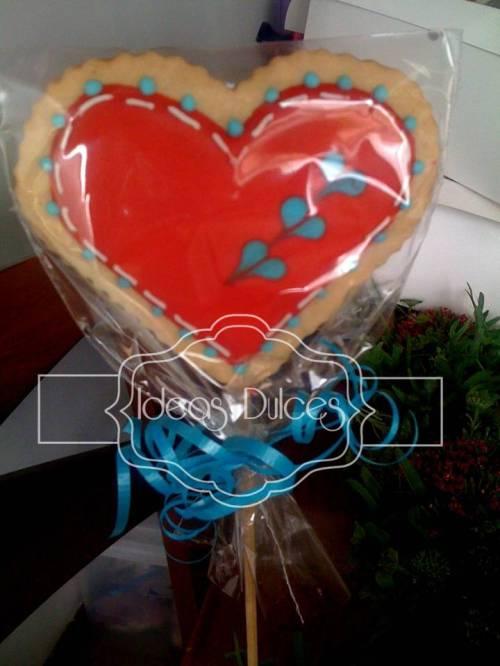 Galletas con corazones impresos  para el pedido de Mirtha