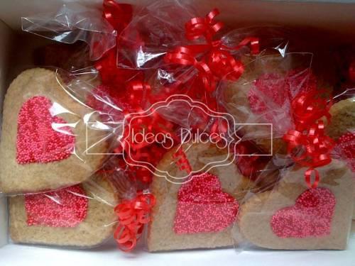 Galletas de corazón para Mirtha
