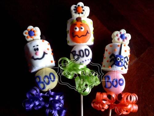 Masmelos en varita para regalar a los niños en Halloween