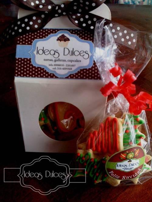 Caja con Bolsa de galletas para Navidad