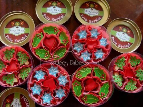 Cajas de Galletas de Navidad para el pedido de Liliana