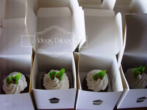 Cupcakes Navideños en Caja individual para AGS COLOMBIA