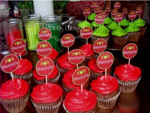 Cupcakes para el cumpleaños de Daniela