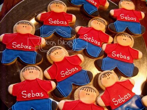 Galletas para los compañeros de colegio de Sebastian