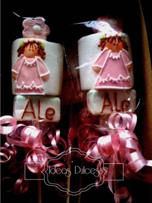 Los masmelos para la primera comunión de Alejandra