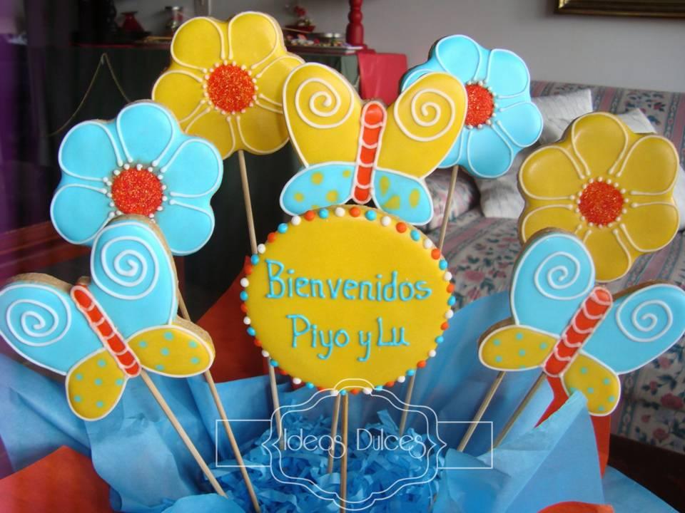 Arreglo de galletas de bienvenida ideas dulces - Detalles de bienvenida ...