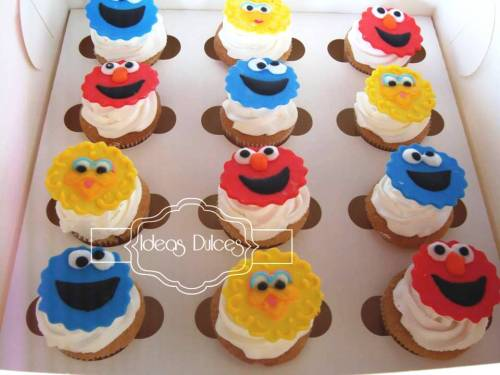 Detalle Cupcakes de Plaza Sésamo