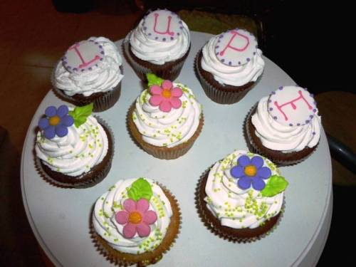 Cupcakes para  la despedida de Lupe
