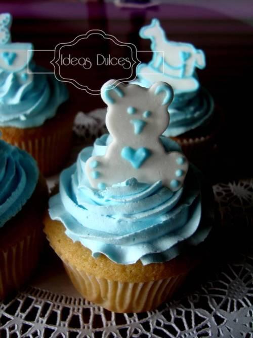 Detalle cupcakes para el Baby Shower de la amiga de Liliana