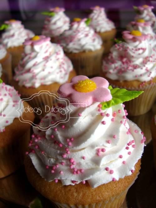 Detalle de los cupcakes para el Baby Sower de Camila