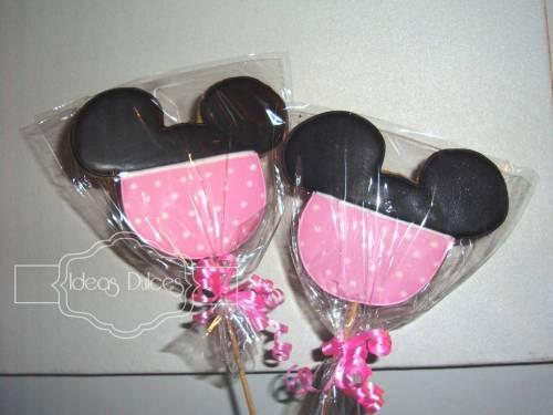 Galletas de Minnie Mouse bebé para el cumpleaños de Mariana.
