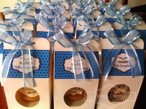 Cajas individuales con Cupcakes para cumpleaños empleados - AGENCIA LOGISTICA