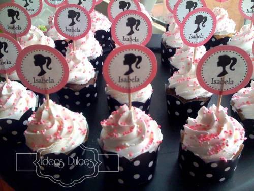 Detalle Cupcakes Barbie para el Cumple de Isabela