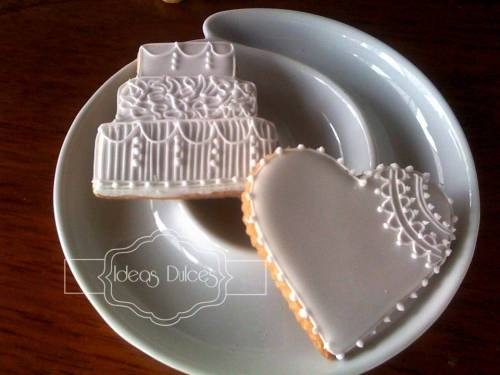 Galletas Recordatorio de Bodas en blanco