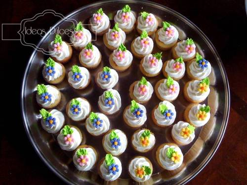 60 Mini-cupcakes para el Baby Shower de Antonia