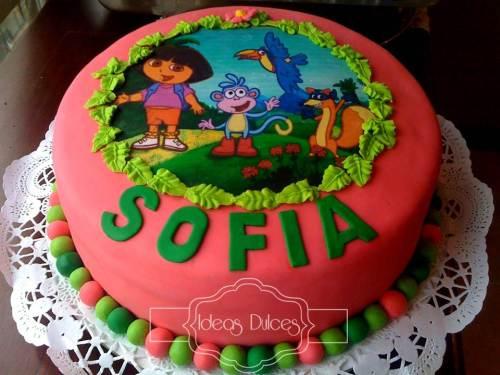 Torta para la Fiesta temática de DORA LA EXPLORADORA para el cumple de Sofía