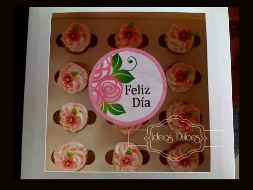 Caja de Mini-Cupcakes  encargados por Constanza