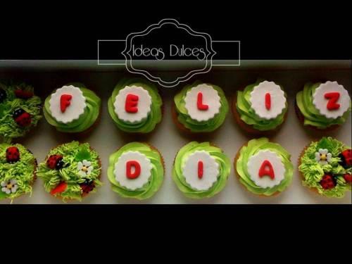 Cajas de Cupcakes con mensaje para los regalos de Carlos