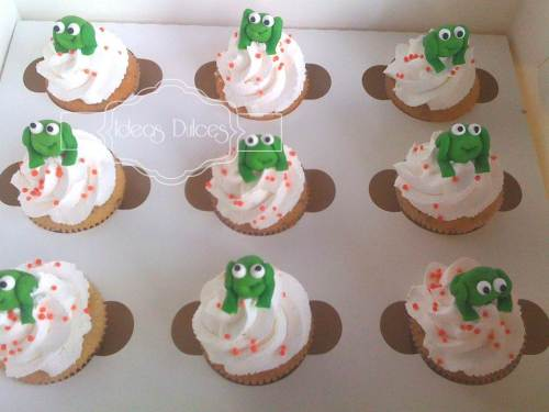 Cupcakes de sapitos para una despedida de soltera