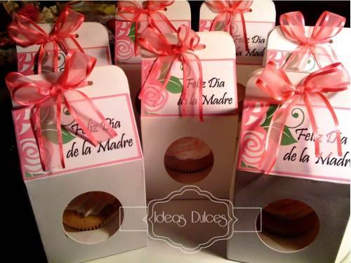 Cupcakes en caja individual para el Dia de la Madre encargados por Ingrid