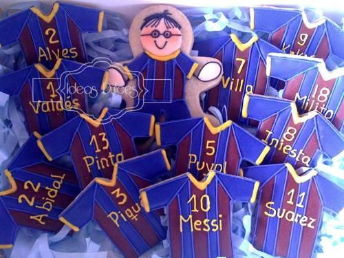 Caja de galletas del equipo Barca para el regalo de Constanza