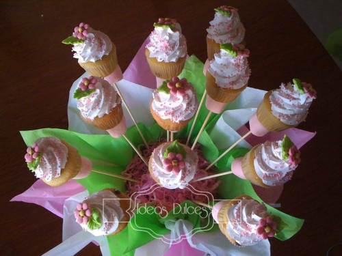 Detalle Arreglo mini-cupcakes para el bautizo de Ma. Antonia