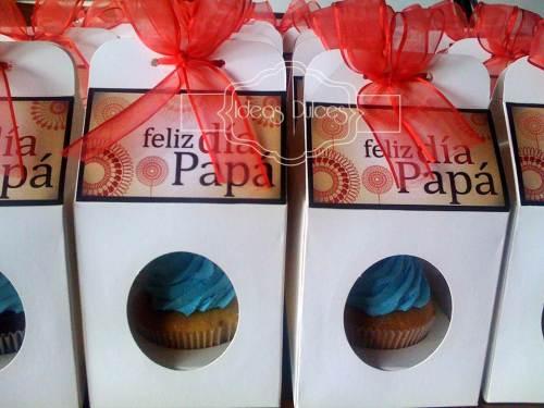 Detalle Cupcakes Dia del Padre para Tisat Logistics y Linea Data